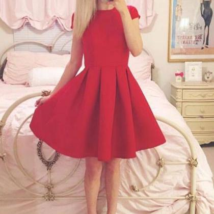 Sexy Short Skirt Red Prom Dress , E..
