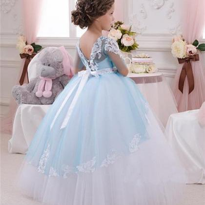 New Lace Applique Flower Girl Dress..