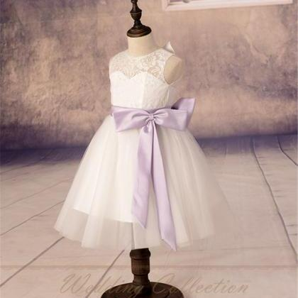 New Lace Tulle Flower Girl Dress Ap..