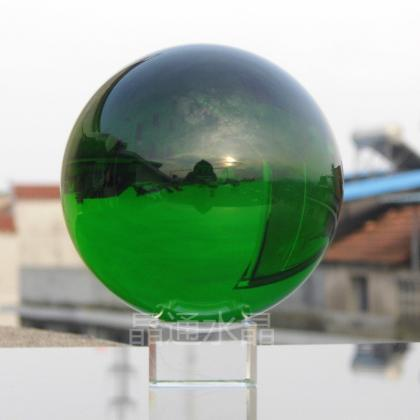 40mm Natural Green Crystal Sphere M..