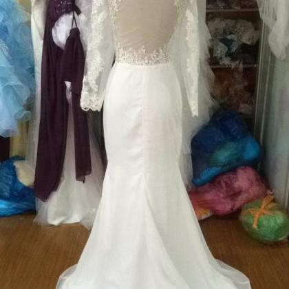 Beach Mermaid Wedding Dresses Simpl..