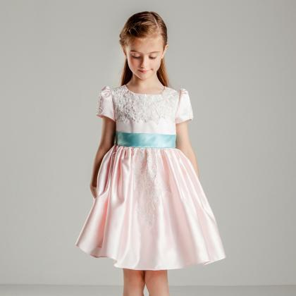 Flower Girls Dresses Lace Taffeta K..