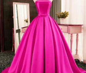 A-Line Satin Prom Dr..
