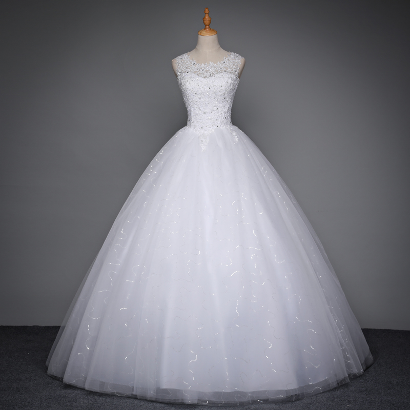 New Design Organza Ruffles Fashion With Lace Applique Beading Bodice Bridal Wedding Dress E2