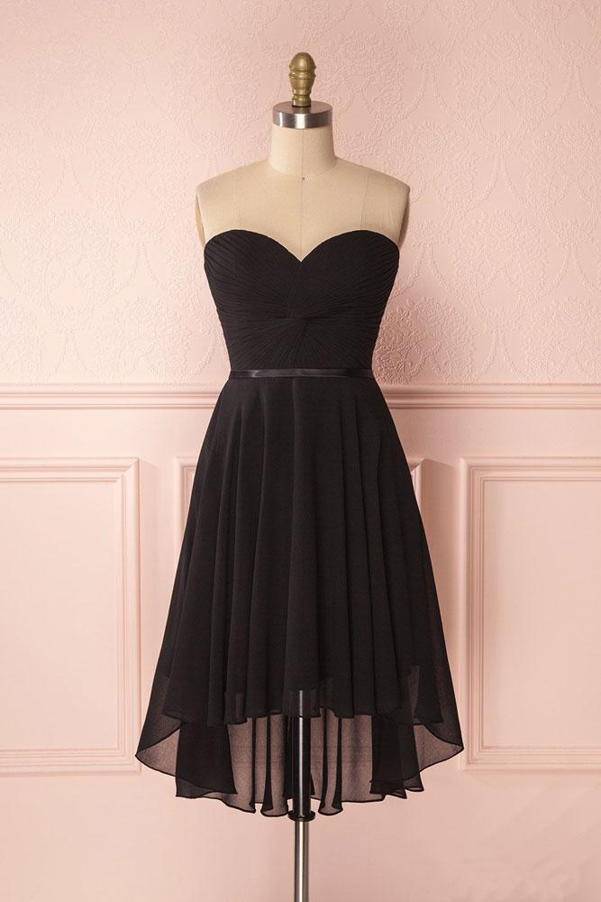 Black Strapless Prom Dress Evening Dress Party Dress Bridesmaid