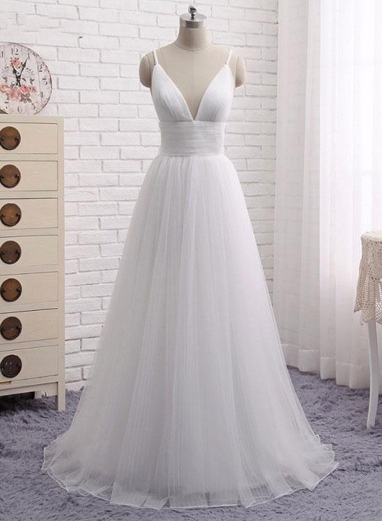 White/Ivory Sexy Deep V Neck Prom Dress Evening Dress party Dress Bridesmaid Dress Wedding Occasion Dress Formal Occasion Dress