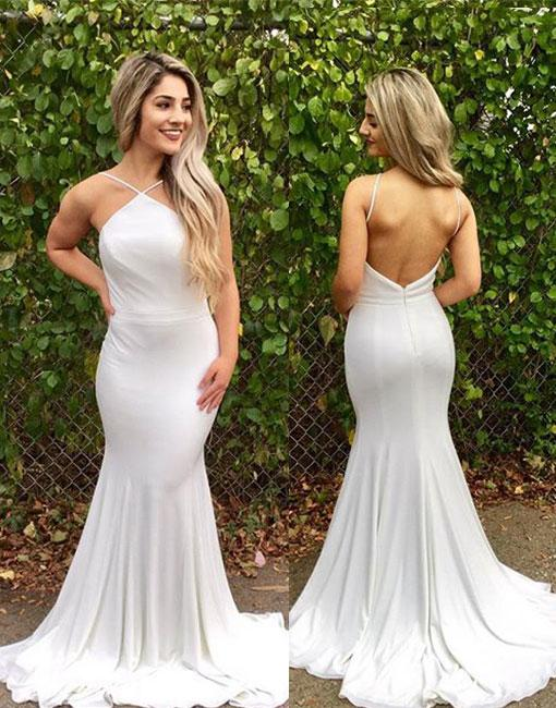 Sexy Long Backless Chiffon Prom Dress Evening Dress Party Dress Bridesmaid Dress Wedding Occasion Dress Formal Occasion Dress