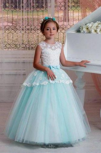 Flower Girl Dress Communion Girl Party Prom Princess Pageant Bridesmaid Wedding