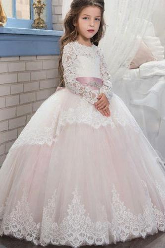 Flower Girl Princess Dress Kid Party Pageant Wedding Bridesmaid Tutu Dress