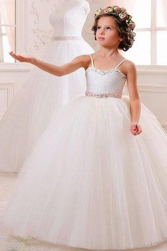 Flower Girl Dress Kid Party Pageant Princess Formal Wedding Bridesmaid