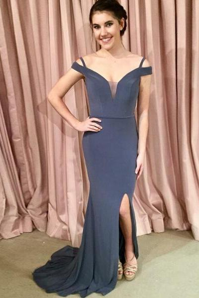 Sexy Off the Shoulder Chiffon Prom Dress Evening Dress Party Dress Bridesmaid Dress Wedding Occasion Dress Formal Occasion Dress