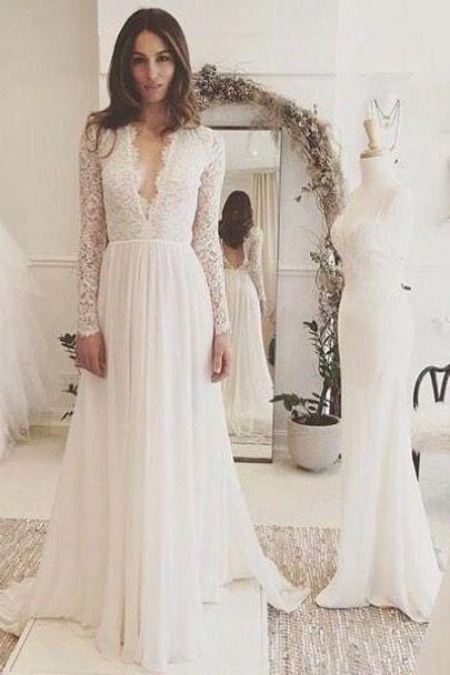 Sexy Long V Neck Lace Long Sleeve Prom Dress Evening With Bow Dress Party Dress Bridesmaid Dress Wedding Occasion Dress Formal Occasion Dress