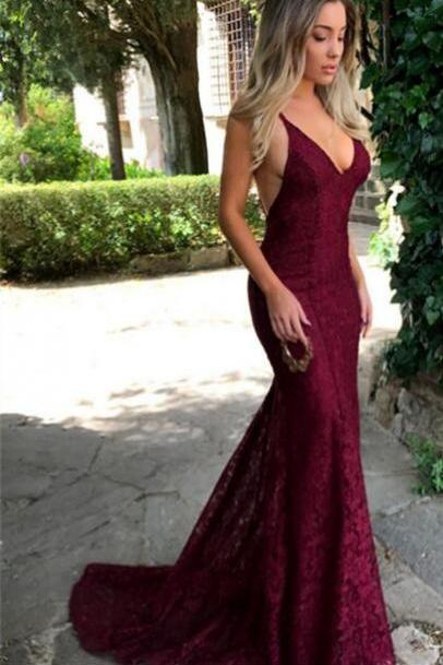 Sexy Long Backless Lace Prom Dress Evening With Bow Dress Party Dress Bridesmaid Dress Wedding Occasion Dress Formal Occasion Dress