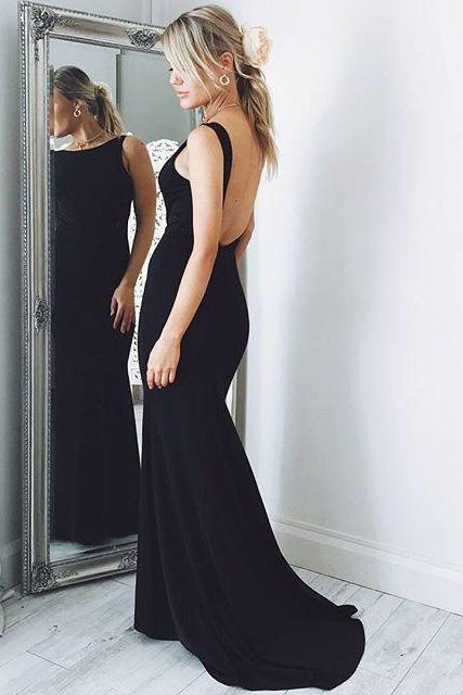 Sexy Backless Chiffon Prom Dress , Evening Dress , Party Dress , Bridesmaid Dress , Wedding Occasion Dress , Formal Occasion Dress