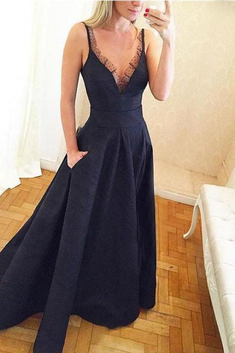 Sexy V Neck Chiffon Prom Dress , Evening Dress , Party Dress , Bridesmaid Dress , Wedding Occasion Dress , Formal Occasion Dress
