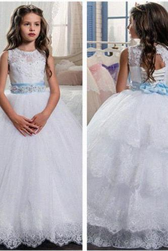 Flower Girl Dress , lace Dress, Kid Party Pageant dress, Princess Dress, Formal Wedding Occasion Dress, Bridesmaid Prom Dress,Brithday Party Dress,Girl Clothing