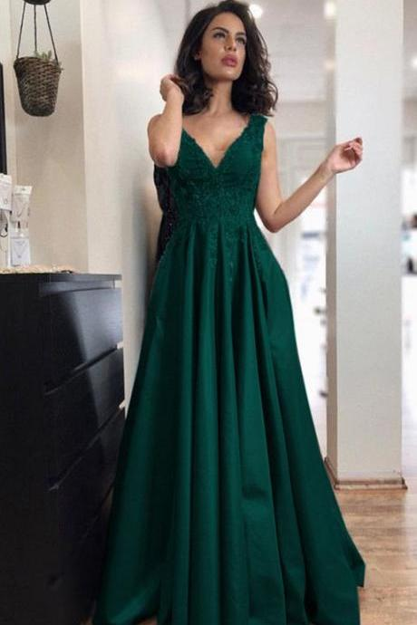Custom Size V Neck Chiffon Prom Dress Evening Dress