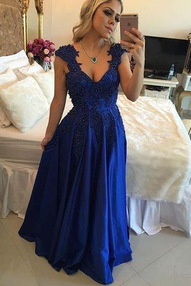 Custom Size Prom Dress Evening Dress Lace Up Back Custom Color