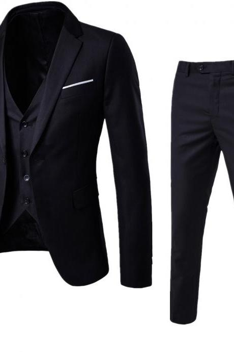 Designer Men Suit Groom Tuxedos Groomsmen Side Vent Slim Fit Best Man Suit Wedding Men's Suits Bridegroom Jacket+Pant+Vest