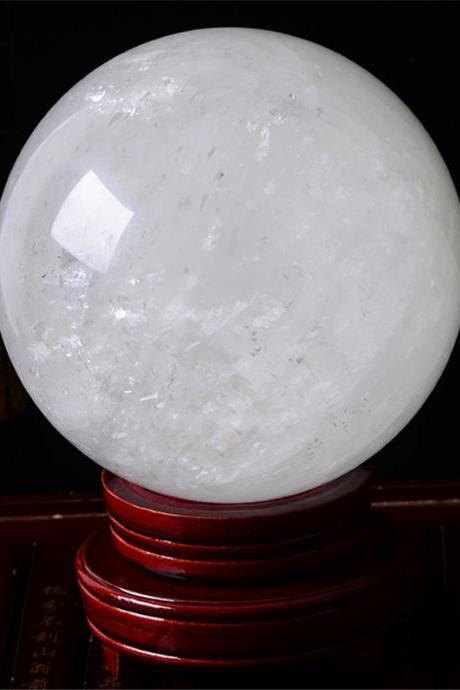 40mm Natural Rock Quartz Stone Magic Crystal Healing Ball Sphere (No Stand) LH-13