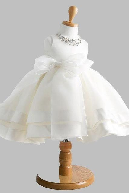 High quailty Lace flower girl dresses for weddings Little girls Elegant dress 2-14 age W120