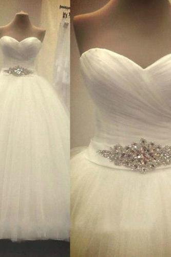 2016 New Arrival Bridal White/Ivory Wedding Dress bridal Gown Custom Size 4 6 8 10 12 14 16 18 W146