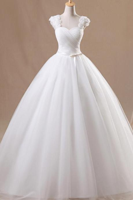 Wedding Dress Sweetangel Sexy V-Neck Flower Wedding Dress Elegant White Princess Wedding Dress W154