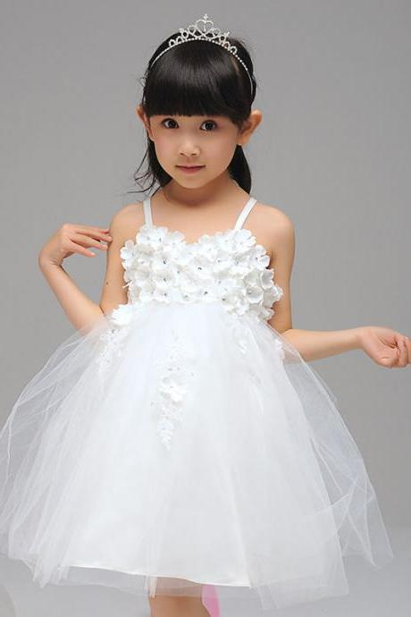 Flower Girls Dresses Applique kids Girls First Communion Dress Party Dress A39