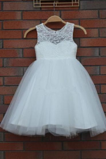 Flower Girl Dresses Keyhole Ball Party Pageant Dress for Little Girls Kids/Children Communion Dress for Wedding Kids38