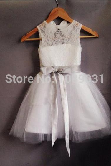 Flower Girl Dresses with Sashes Ball Party Pageant Communion Dress for Little Girls Kids/Children Dress for Wedding Kids39