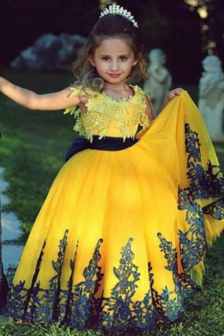 Flower Girl Dresses Luxury Ball Gown Party Pageant Communion Dress Little Girls Kid/Children Princess Dress for Wedding Kids42
