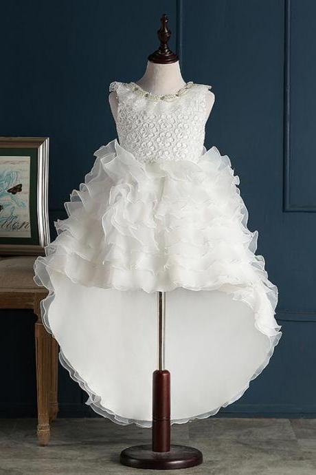 Flower Girl Dresses with Train Real Party Pageant Communion Dress Little Girls Kids/Children Dress for Wedding Kids51