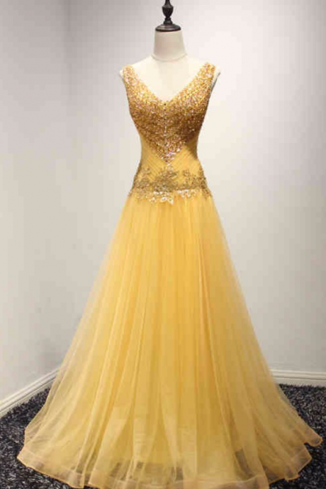 Real Picture Yellow Long Evening Party Dresses Beading Lace Up Black Girl African Prom Formal Gowns JA74