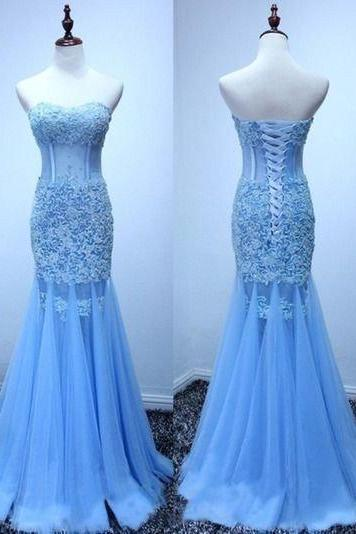 mermaid Prom Dresses,lace up back prom dress,long prom Dress,elegant prom dress,charming evening dress JA202