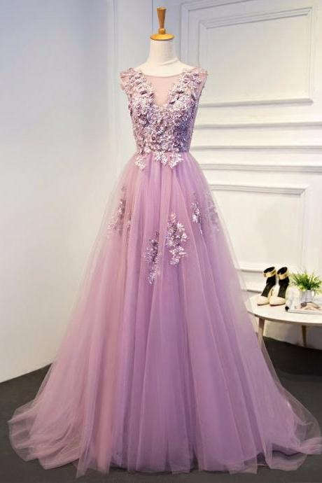 Purple Evening Dresses Long Plus Size Tulle Prom Lace Up Beaded Gown Vestido De Festa Elie Saab Dress Abendkleider 2017 JA261