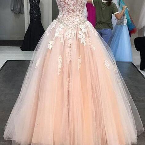 Sexy Strapless Ball Gown Lace Applique Prom Dress Evening With Bow Dress Party Dress Bridesmaid Dress Wedding Occasion Dress Formal Occasion Dress