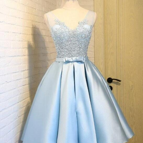 Sexy Short Skirt Blue Prom Dress , Evening Dress , Party Dress , Bridesmaid Dress , Wedding Occasion Dress , Formal Occasion Dress