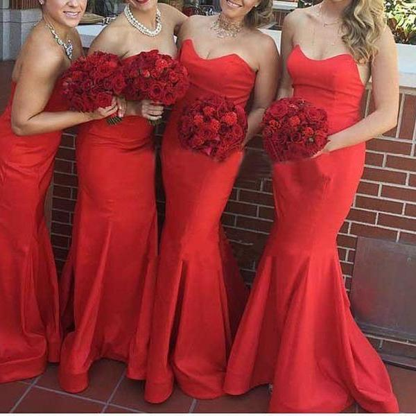 Red Dress Party Dress , Evening Dress , Party Dress , Bridesmaid Dress , Wedding Occasion Dress , Formal Occasion Dress