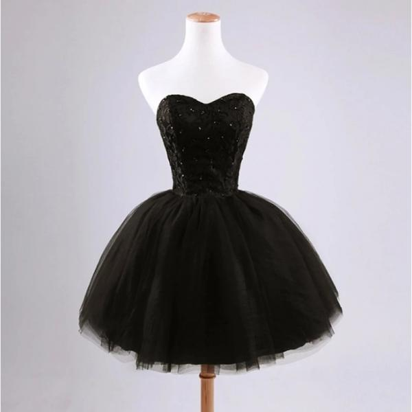 Black Short Dress Prom Dress Evening Dress Formal Occasion Party Dress