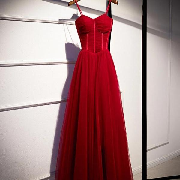Sexy Red Full Length Prom Dress Evening Dress Formal Occasion Party Dress