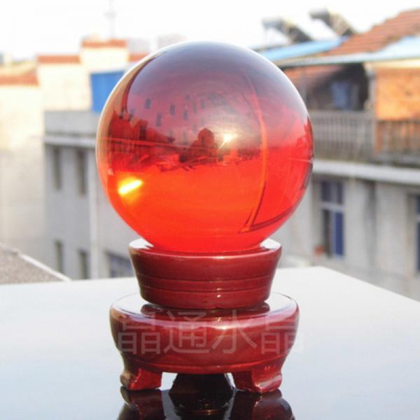100mm Natural Red Rock Quartz Stone Magic Crystal Healing Ball Sphere + Stand LH-31