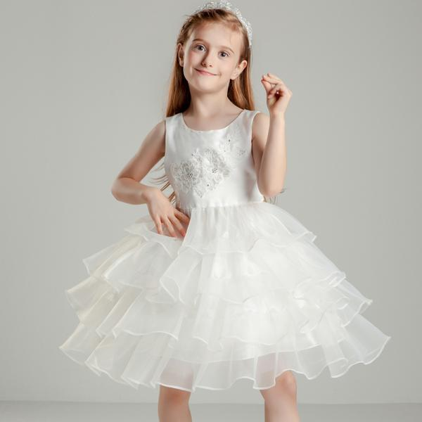 Flower Girls Dresses Organza Kids Girls First Communion Dress Party Dress A19