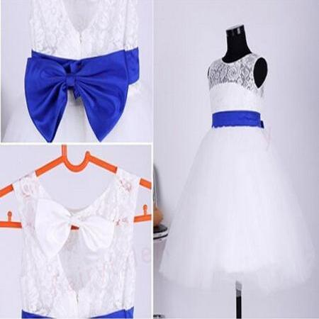 Real Flower Girl Dresses with Sashes Bow Communion Ball Pageant Dress for Wedding Little Girls Kids/Children Party Dress Kids27